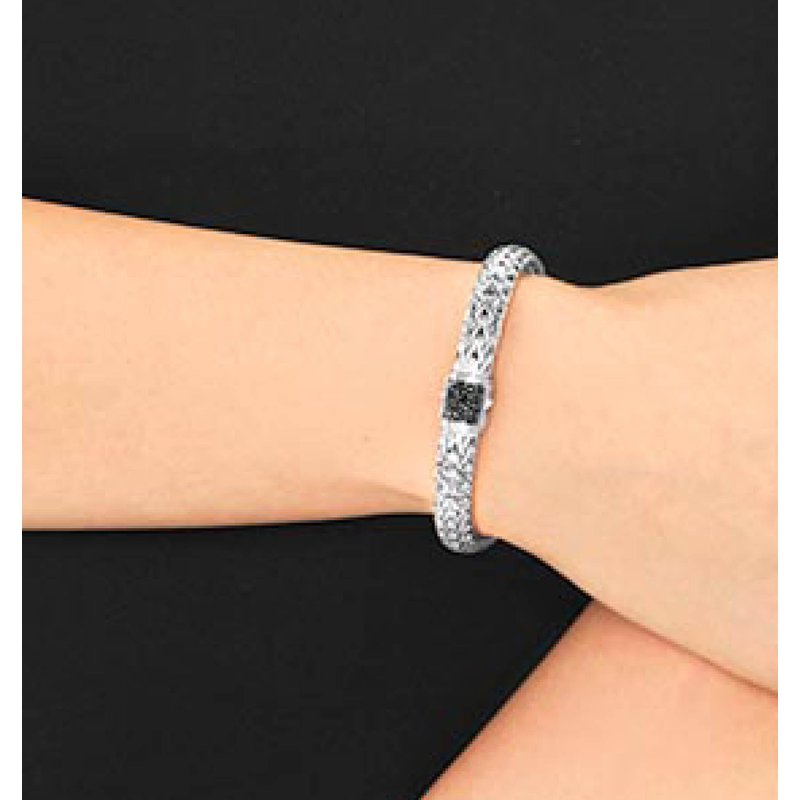 John Hardy Classic medium chain bracelet with Black Sapphires