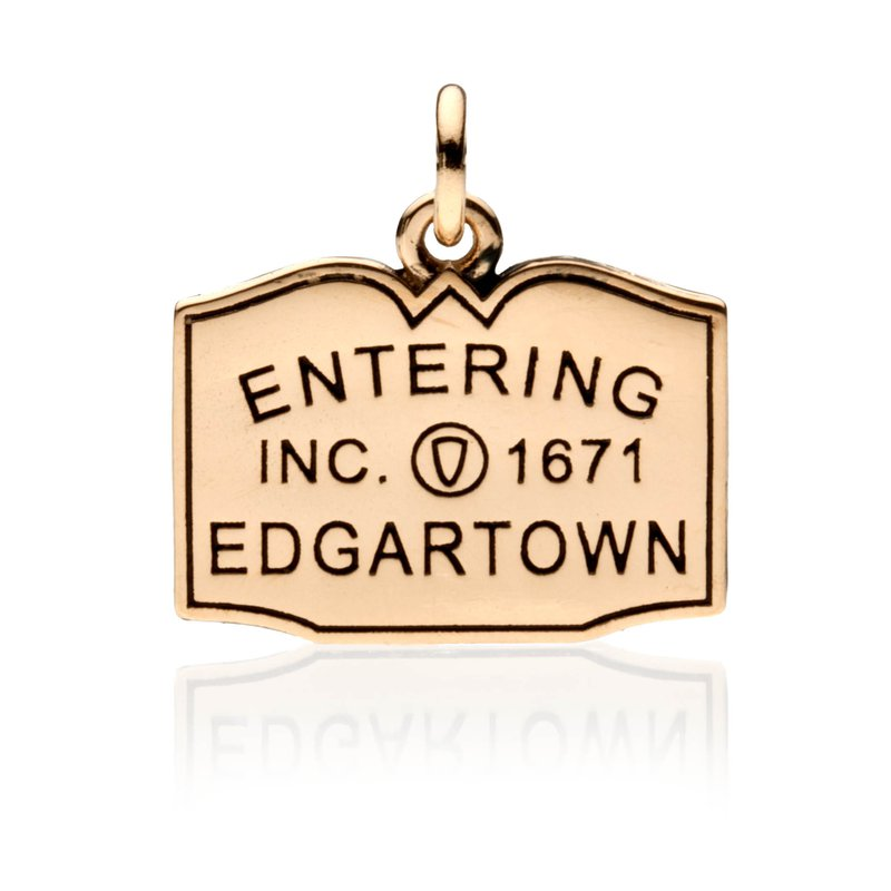 Entering Edgartown Town Sign charm