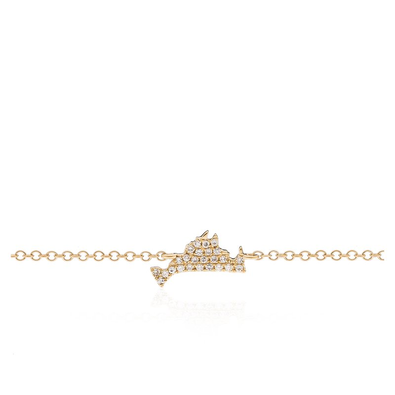 Mini Martha's Vineyard Diamond Pave Station Bracelet