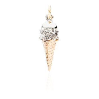 Double Scoop Ice Cream Cone charm