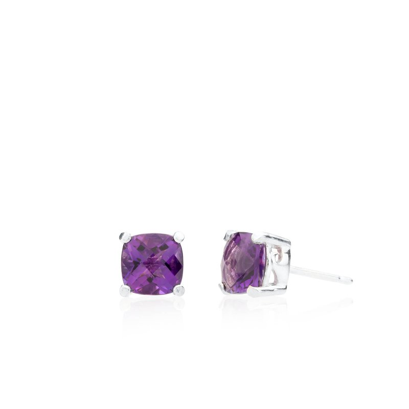 Wave Collection small earrings with amethyst