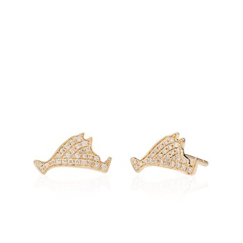 Martha's Vineyard Pave Diamond Stud earrings