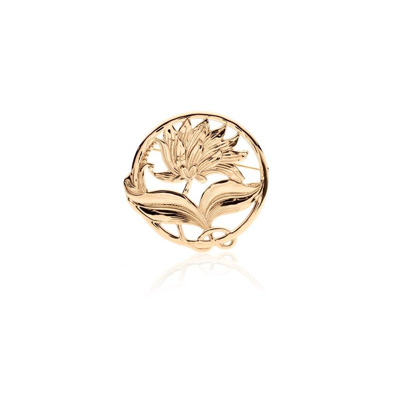 Round Flower pin pendant