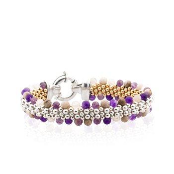 Dovera Reversible Wampum Inspired Woven bracelet