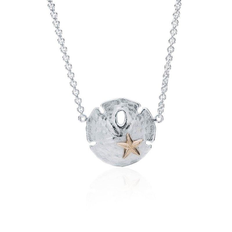 Sand Dollar necklace with 14K Starfish