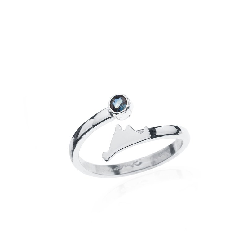 Martha's Vineyard Sapphire Bypass ring