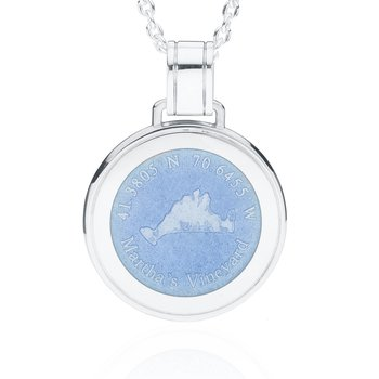 Martha's Vineyard Large Enamel French Blue pendant