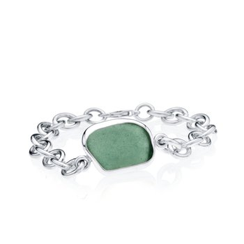 Seaglass Oval Link bracelet