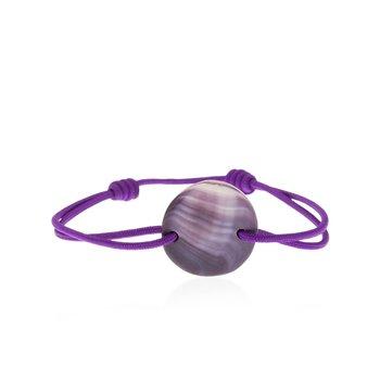 Quahog Shell Circle Tie bracelet