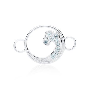 Blue Topaz Wave Changeable Bracelet Top