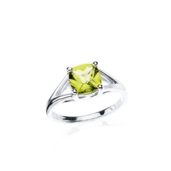 Wave Collection ring with peridot