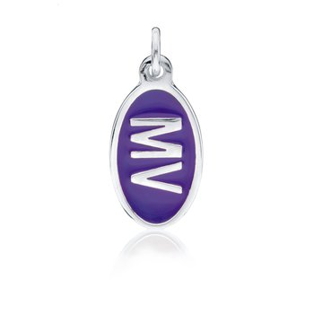 MV Purple Tiny Tag charm
