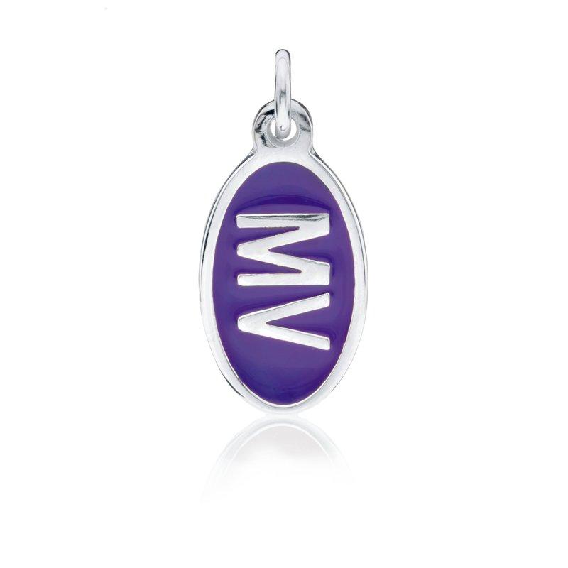 MV Purple Tiny Tag charm