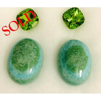 Turquoise & Peridot Drops