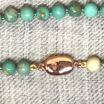 Small green beads
