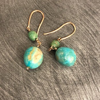 Turquoise Nugget Drop