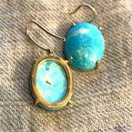 Arkansas Turquoise Boutique Large Oval Drop