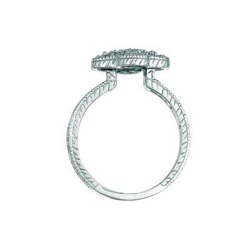 14K Gold 0.65ctw. Diamond Clover Cocktail Anniversary Ring