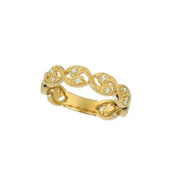 14K Gold 0.16ctw. Diamond Victorian Anniversary Wedding Band Ring