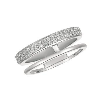 14k Gold 0.35ctw. Diamond Open Negative Space Band Ring