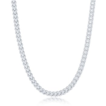 - Sterling Silver 4mm Franco Chain Necklace for Men