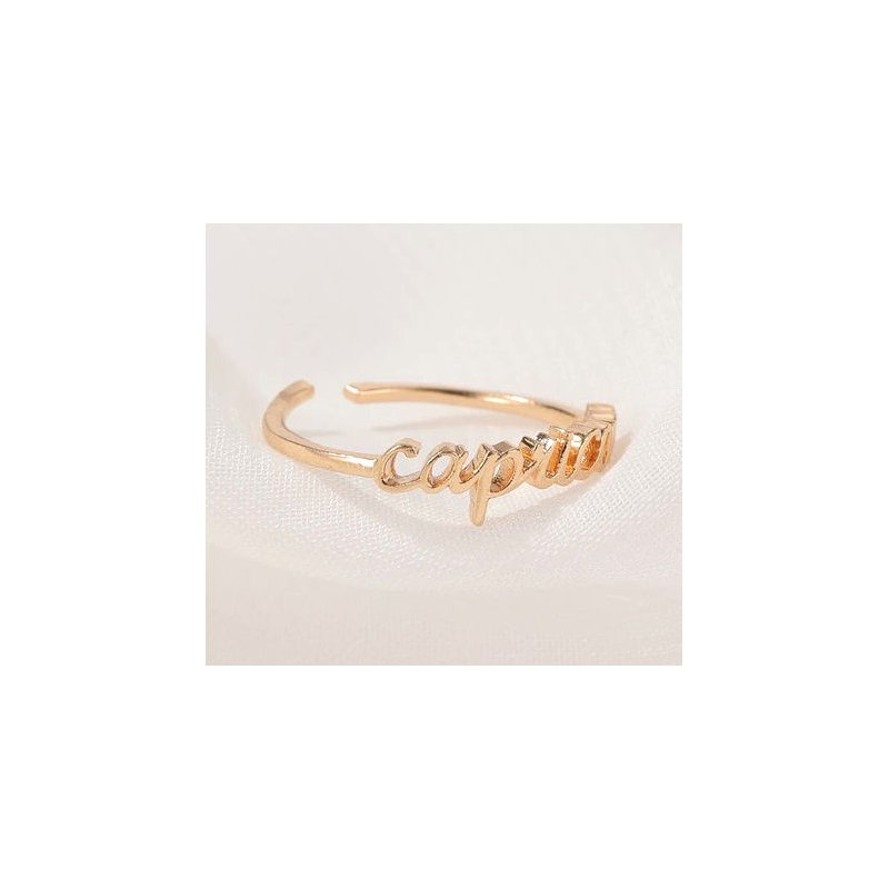 Fashion Jewelry Collection Zodiac Birth Sign Horoscope Constellation Adjustable Rings