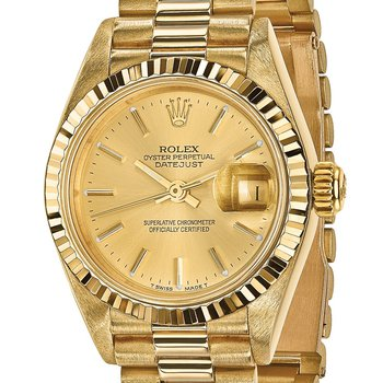 : Pre-Owned Independently Certified Rolex Ladies 18ky Datejust President