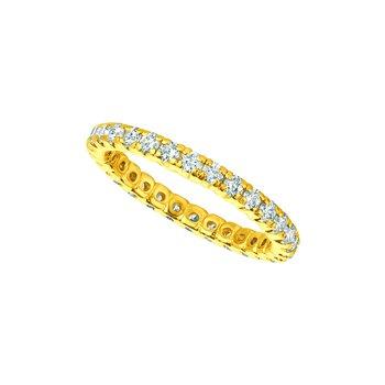14K Gold Diamond Eternity Anniversary Wedding Band