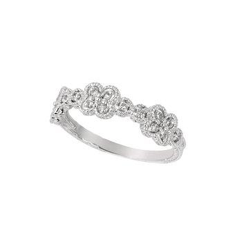 14K Rose Gold 0.26ctw. Diamond Geometric Anniversary Engagement Wedding Band Ring