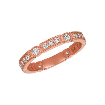 14k Gold 0.61ctw. Diamond Geometric Anniversary Wedding Band Ring