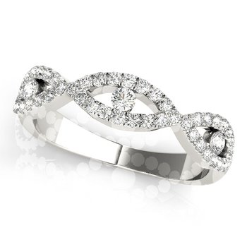 1/3ctw. Diamond Anniversary Wedding Infinity Criss-Cross Stackable Ring Band