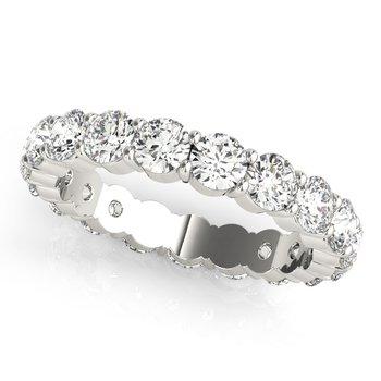 - Round Diamond Eternity Anniversary Wedding Band