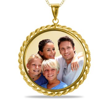 - Large Round Rope Picture 33mm Customized Photo Picture Pendant