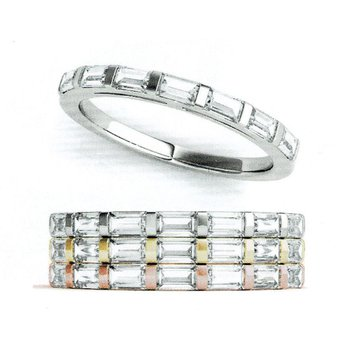 1.38ctw. Baguette Diamond Anniversary Wedding Stackable Ring Band