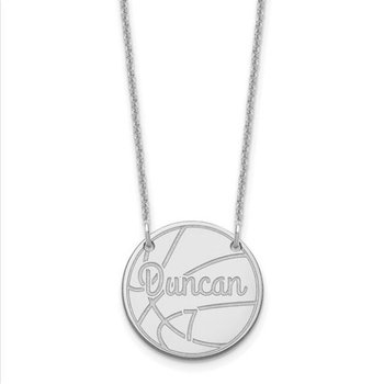 "14k Gold Personalized Round Circle and 18""x1mm Chain Name Symbol Necklace"