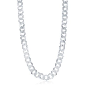 - Sterling Silver 9.2mm Curb Cuban Chain Bracelet/Necklace for Men