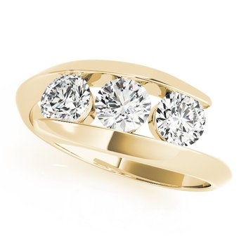 - 1.00ctw. Round 3-Stone Diamond Anniversary Engagement Ring Band