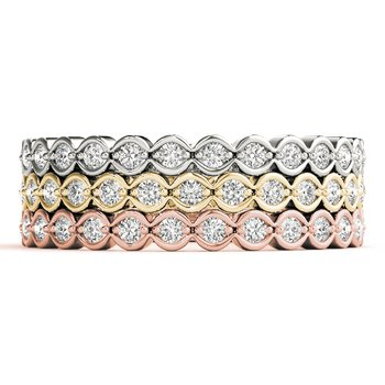 1/5ctw. Diamond Anniversary Wedding Stackable Ring Band
