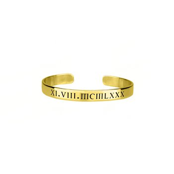 Engravable Customized 4.75mm Cuff Bangle Bracelet