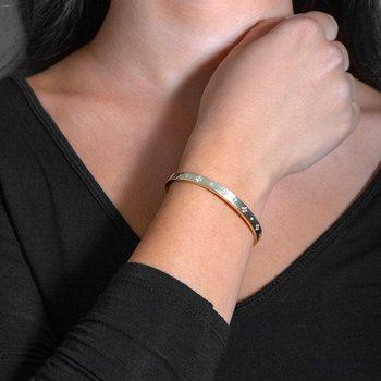 - 3/8ct. Diamond 14k Gold Clover Hinged Bangle Bracelet