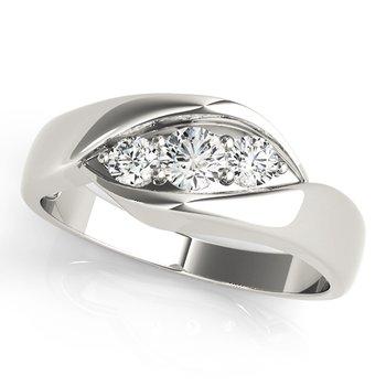 - 0.25ctw. Round 3-Stone Diamond Anniversary Engagement Ring