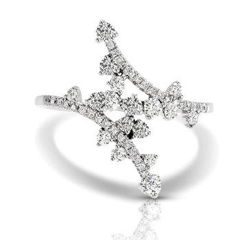 1/2ct. Diamond 14k White Gold Freeform Right Hand Ring