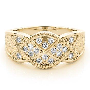 - 0.20ctw. Diamond Infinity Anniversary Right Hand Band Ring
