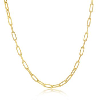 - Sterling Silver 2.8mm Paper Clip Style Chain Anklet/Necklace