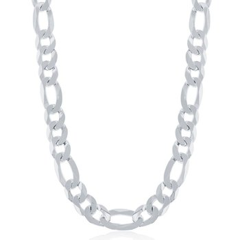 - Sterling Silver 8.6mm Figaro Chain Bracelet/Necklace