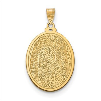 14k Gold Personalized 29.5x21.2mm Oval Fingerprint Pendant