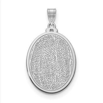 14k Gold Personalized 29.5x21.2mm Oval Fingerprint Pendant