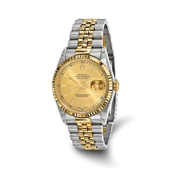 : Pre-Owned Independently Certified Rolex Gents Datejust Steel/18k Jubilee Band