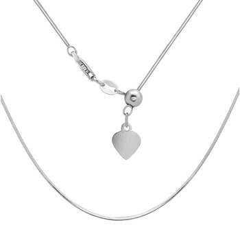 "Sterling Silver 1mm Square Snake Chain 14""-22"" Adjustable Necklace"