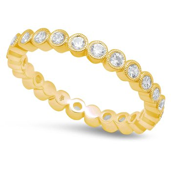 - 0.57Ctw. Round Diamond Bezel Set 2.5mm Wide Eternity Wedding Band